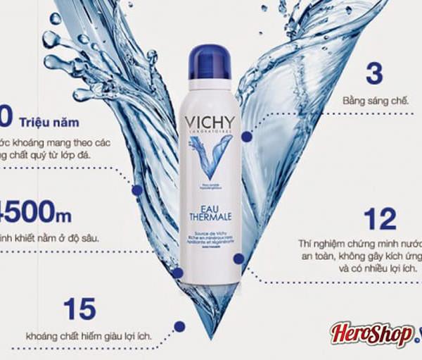 Xịt Khoáng Vichy 300ml Nhập Khẩu Từ Pháp Dưỡng Ẩm Chống Nắng