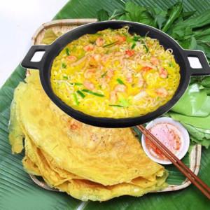 Chảo Gang Làm Bò Né Bánh Xèo Trung Ngon Tuyệt