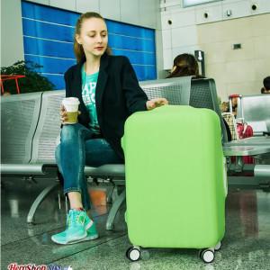 Túi bọc vali thun màu co giãn giặt được (vali Size 26 - 32 Inches)