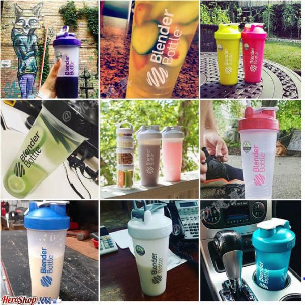 Bình Lắc Thể Thao Pha Chế Sữa Protein 800ml Pha Chế Cafe Nước Ép Đa Năng