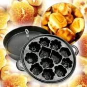 Khuôn Làm Bánh Bông Lan Nướng Chống Dính 12 Bánh Thom Ngon Hàng VNCL