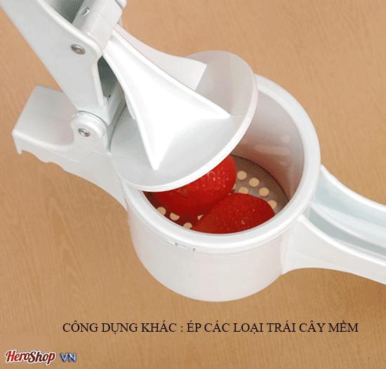 Dụng Cụ Làm Bánh Canh Bánh Lọt Bún Mì Hàng VNCLC bao gồm một dụng cụ ép và 4 khuôn cắt có các lỗ nhỏ, giúp người nội trợ dễ dàng chế biến bún tươi, bánh can
